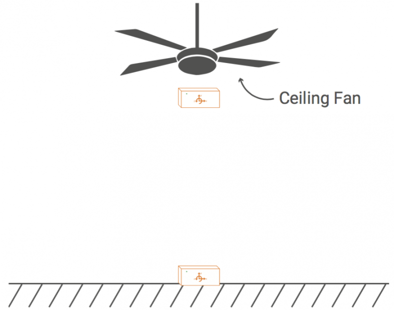 Ceiling fan in winter diagram