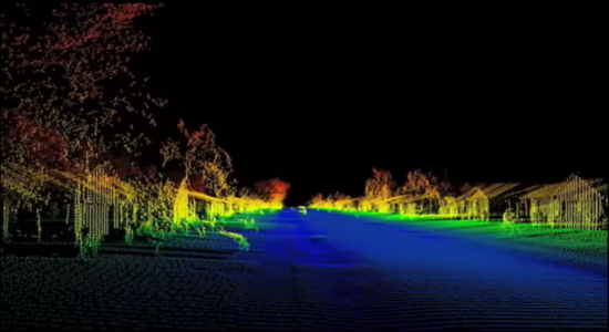 lidar image from the song House of Cards