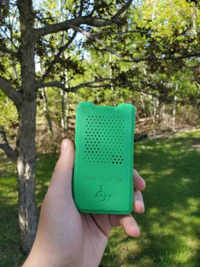 PocketLab Air being used Outside